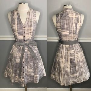 Anthropologie Maeve Magnifying Glass Print Dress